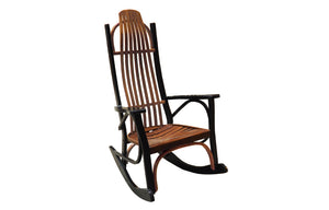 Oak black cherry aged contemporary rocking chair