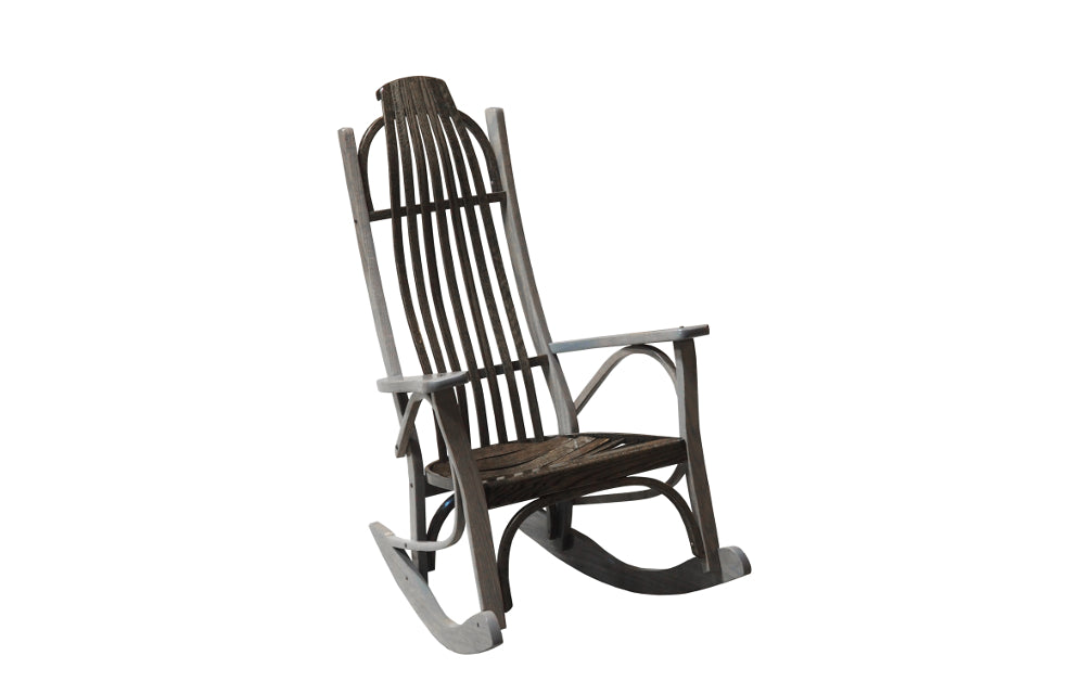 Locust Wood Contemporary Rocking Chair