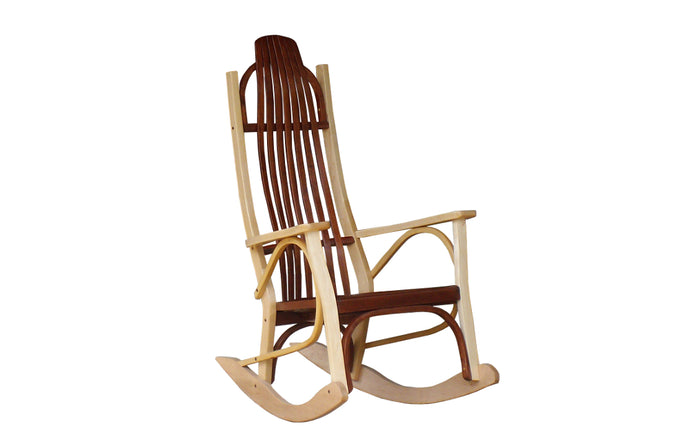 maple natural cherry aged contemporary rocking chair