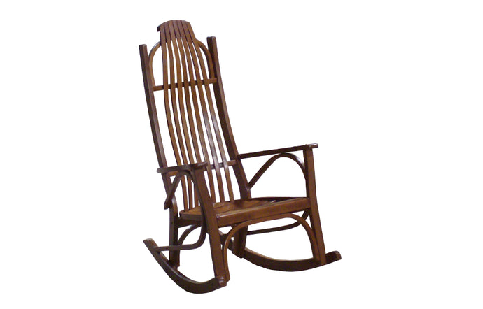 cherry wood large arm rocking chair