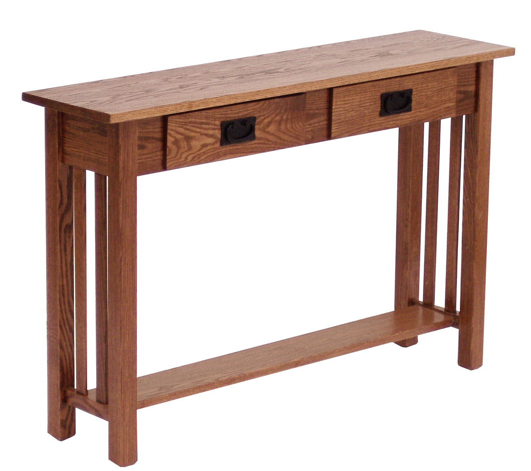 mission-sofa-console-table-with-drawers-shelf