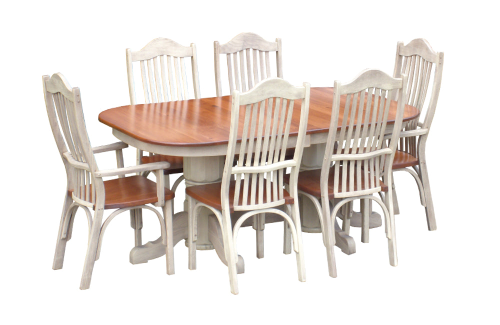 Providence Double Pedestal Table Set