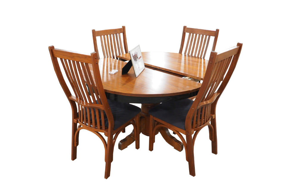 Round Butterfly Table Set