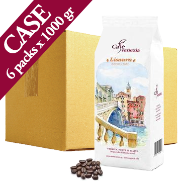 Cafè Venezia Lisaura Coffee Beans - Case of Six 1 kg Bags