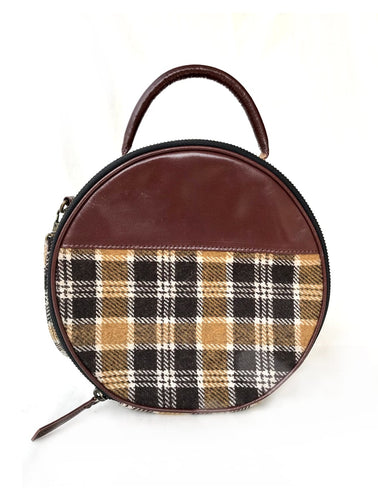 Plaid Small Circular Purse