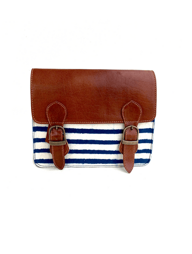 Nautical Double Buckle Messenger Sling Bag