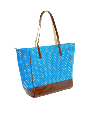 Dotted Blue Tote Bag