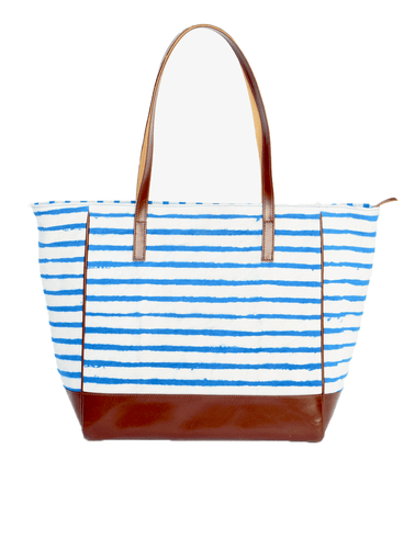 Nautical Indigo Blue Tote bag