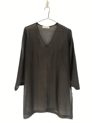 Sheer Short Women's Kaftan Top/Tunic