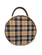 Load image into Gallery viewer, Plaid Small Circular Purse