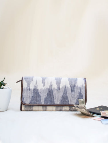 Gray Ikat Wallet