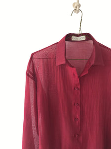 Sheer Soft Collar Women's Shirt