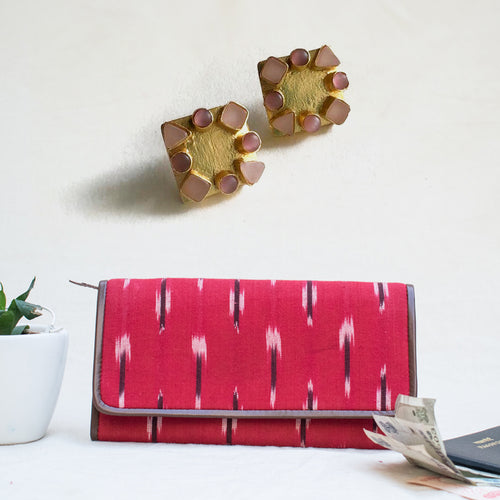 Valentine's Colors - Wallet & Earrings Combo