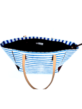 Load image into Gallery viewer, Nautical Indigo Blue Tote bag