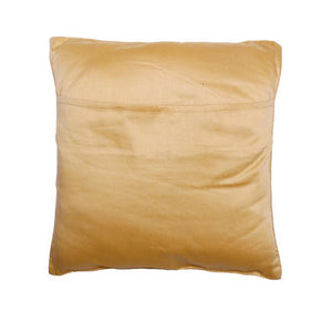 Camel Embroidered Yellow Cushion Cover