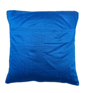 Camel Embroidered Blue Cushion Cover