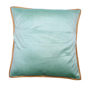 Kantha Embroidered Green Cushion Cover