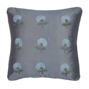 Marigold Embroidered 16x16 Shades of Gray Cushion Cover