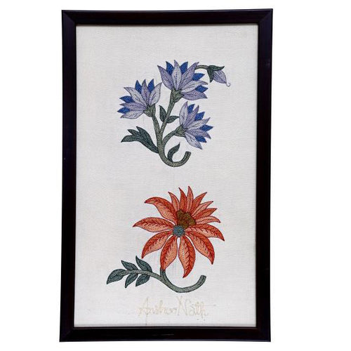 Marigold Embroidered Wall Art - 12.7x7.6