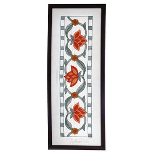 Marigold Embroidered Wall Art - 20.0x7.1