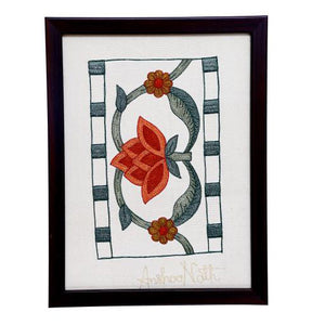 Marigold Embroidered Wall Art - 9.0x6.7