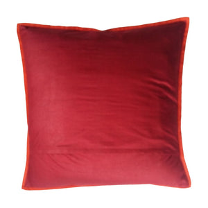 Nandi Embroidered Patchwork Red Cushion Cover