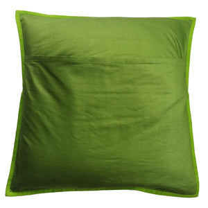 Nandi Embroidered Patchwork Green Cushion Cover