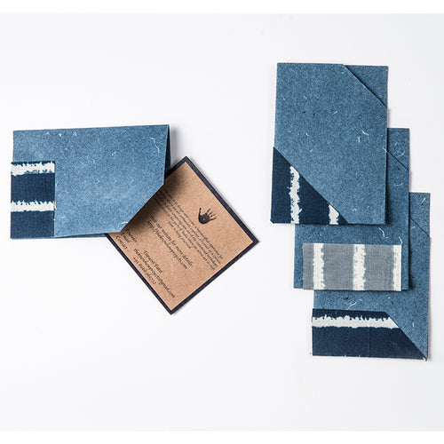 Mini Sleeve - Assorted Set of 5 Denim Blue