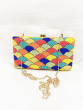 Load image into Gallery viewer, Rainbow Handmade Indian Clutch Handbag