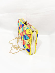 Rainbow Handmade Indian Clutch Handbag