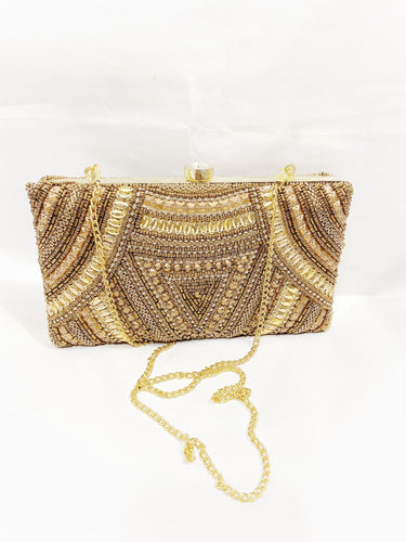 Shimmering Golden Clutch