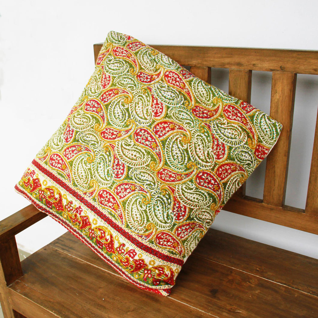 Kantha Cushion Covers Cushion Cover Made With - Recycled/Vintage Cotton Sari Cloth Handmade Item