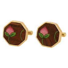 Load image into Gallery viewer, His and Hers Wooden Jewelry - Cufflinks and Earrings Combo