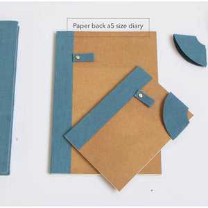 A5 Paperback Notebook Diary - Set of 3