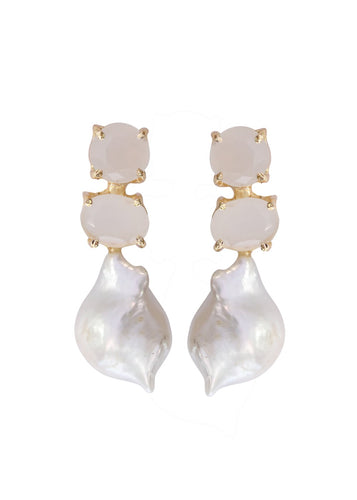 Classic Baroque Pearl Earrings