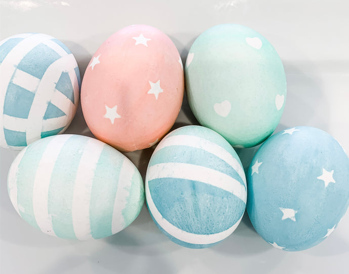 Pastel Stamped Easter Eggs