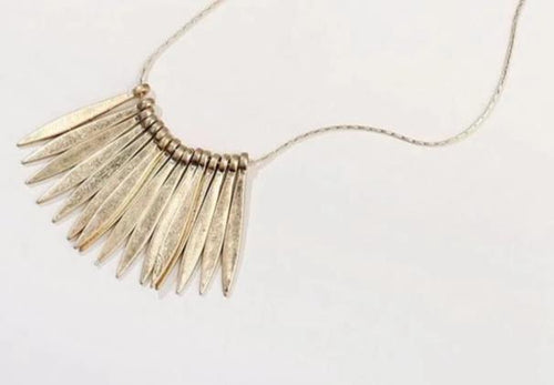 Metal Spear Necklace