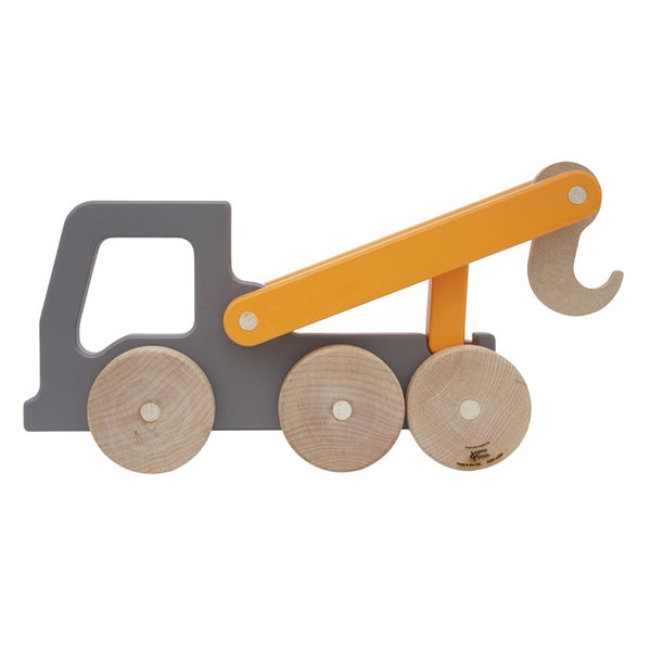 Tow Truck Wooden Push Toy