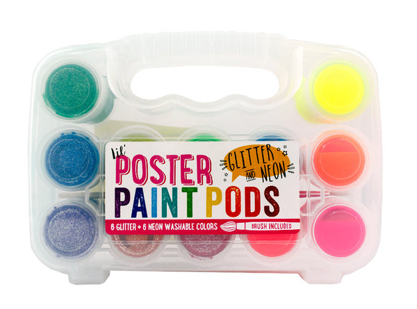 Lil' Poster Paint Pods - Glitter & Neon