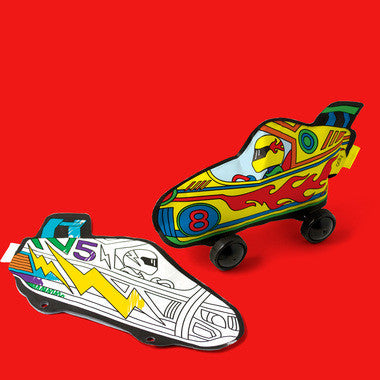 3D Colorables - Rad Race Cars