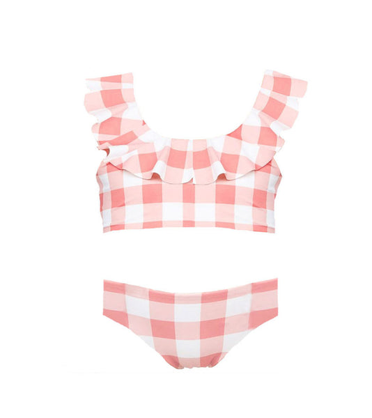 Girls Vivi Set in Riviera Plaid