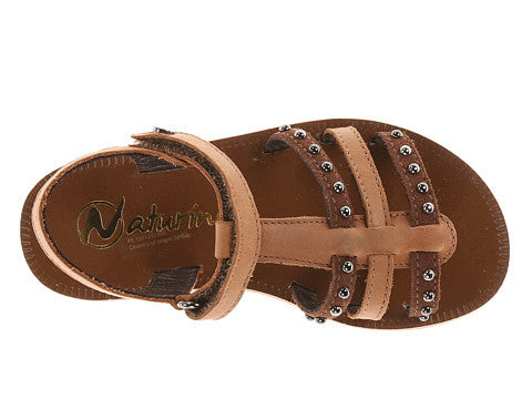 Brown Sandal with Stud Detail