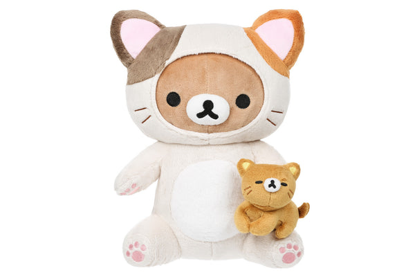 Rilakkuma Cat Play With Kitty