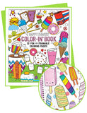 Color-in' Book: Happy Snacks