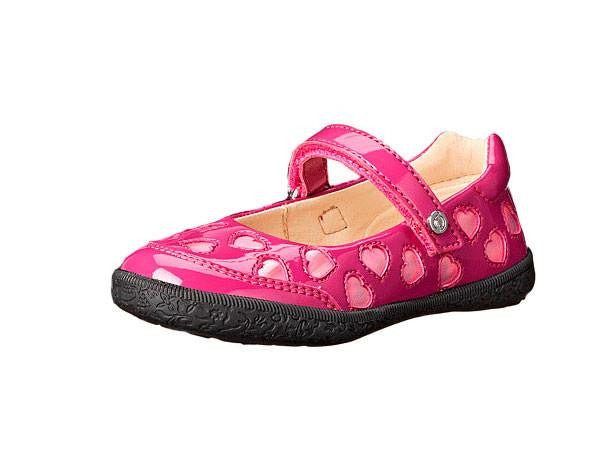 Pink Patent Heart Mary Jane