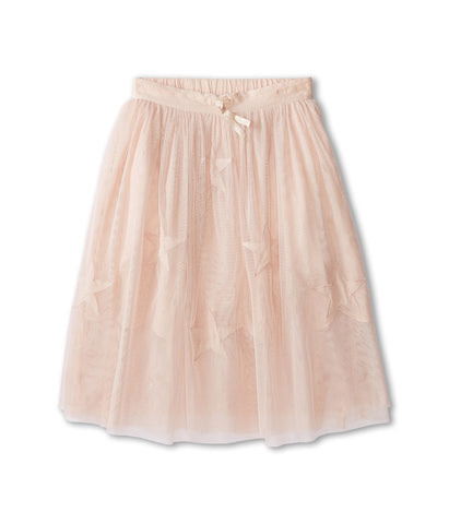 Amalie Skirt with Long Tulle Stars Overlay in Pink