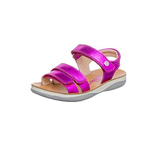 Fuschia Velcro Adjustable Sandal