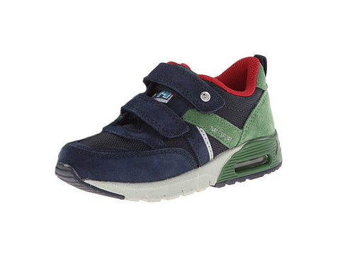 Boys Blue and Green Velcro Sneakers