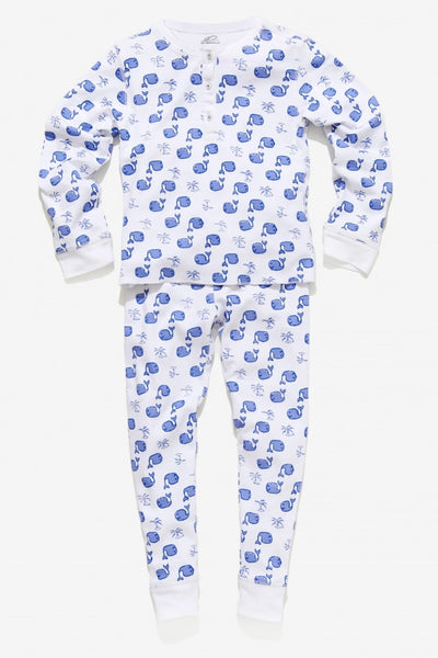 Kids Moby Pajama Set in Blue