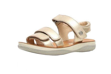 Gold Velcro Adjustable Sandal